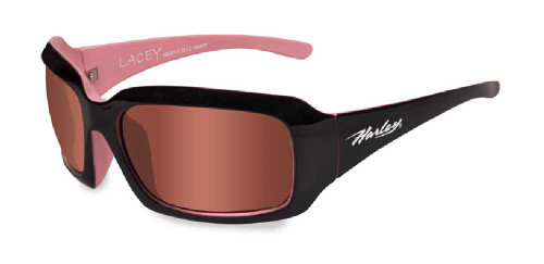 Harley-Davidon Lacey Pink Lens w/ Cotton Candy Frame Sunglasses HDLAC03
