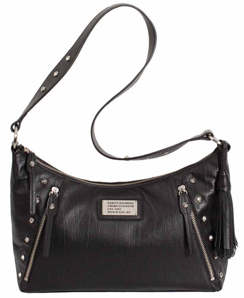 Harley Davidson Womens All Bark Black Shoulder Bag  AB7733L-Black