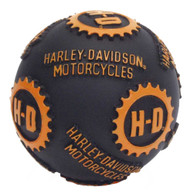 Harley-Davidson® H-D Ball Pet Toy 4 Inch Vinyl Black & Orange H8200-H-V07DOG