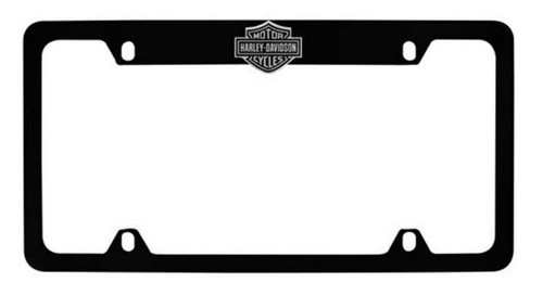 Harley-Davidson® Bar & Shield License Plate Frame Matte Black HDLFZKE14-U