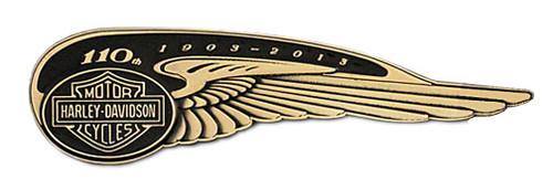 Harley-Davidson® 110th Anniversary Winged Tank Badge Pin Limited Edition HDBCB226 - A