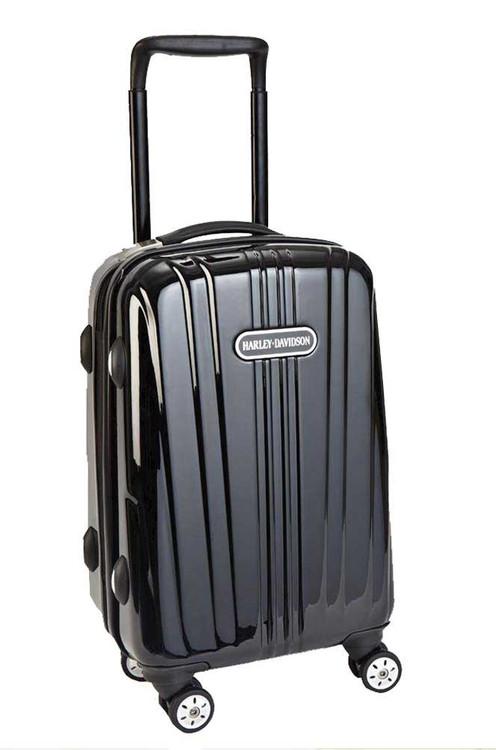 Harley-Davidson® Black Chrome Collection 18'' Molded Cabin Wheeling Bag 99918-BLK