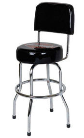 Harley-Davidson® Low Rider Bar & Shield Bar Stool W/ Back Rest, Black HDL-12209 - A
