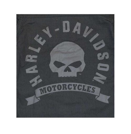 Harley-Davidson® Big Boys' Shop Shirt, H-D Long Sleeve Striped, Black 4391586 - A