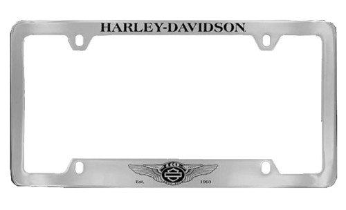 Harley-Davidson® 110th Anniversary Logo License Plate Frame Cover HDLF237-UF