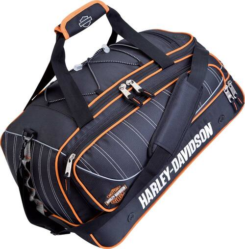 Harley-Davidson® 21'' Black Carry-On Tank Duffel, Backpack straps 99421
