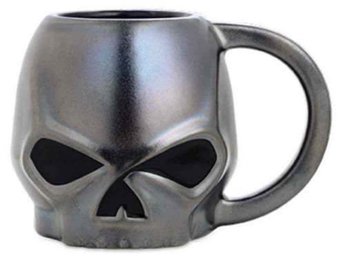 Harley-Davidson® Ceramic Sculpted Skull Coffee Mug 15 oz., Black. 96860-16V