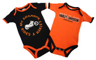 Harley-Davidson® Baby Boys' Grandpa Rides A Harley Creeper 2-Pack 1153044 - Wisconsin Harley-Davidson