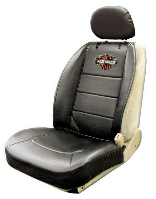 Harley-Davidson® Seat Cover Black, Bar & Shield Logo Sideless ...