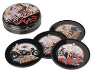 Harley-Davidson® Servi-Gal Coasters Set, 4 Tin Coasters HDL-18521 - Wisconsin Harley-Davidson