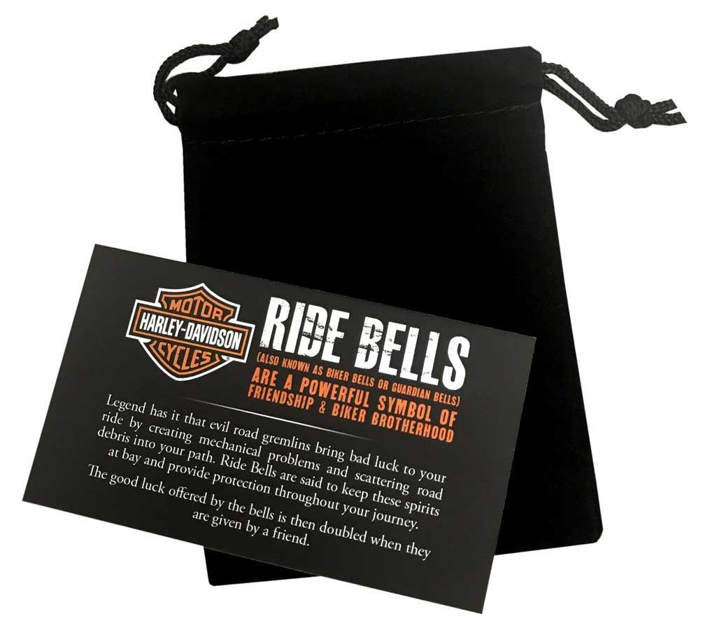 Harley Davidson Hog Emblem Ride Bell Durable Zinc Silver Hrb068