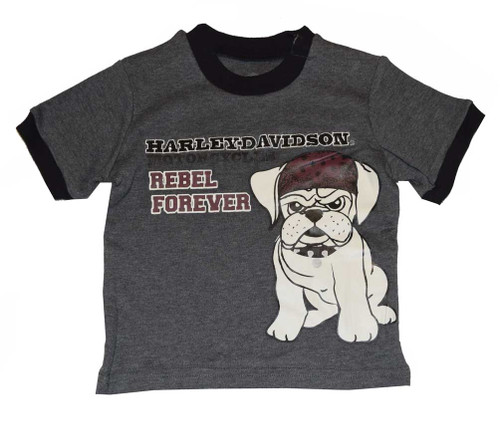 Harley-Davidson® Baby Boys' T-Shirt, Rebel Bulldog Short Sleeve Tee 4361550 - A