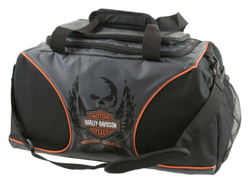 Harley-Davidson® Deluxe Embroidered Bar & Shield Duffel Bag, Black 7189519
