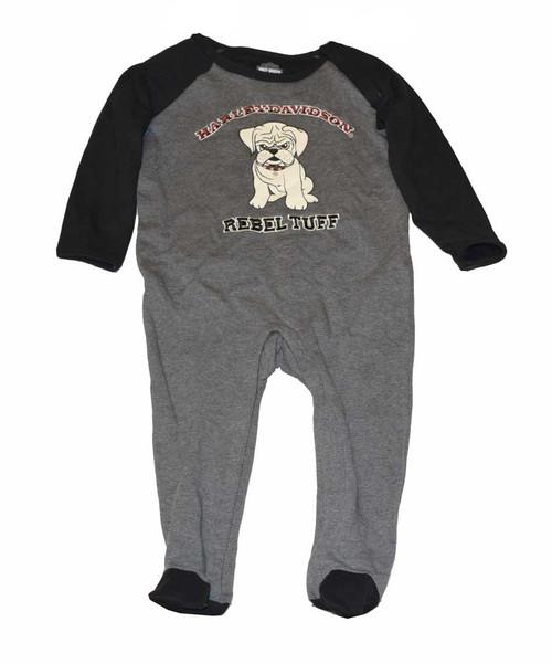Harley-Davidson® Baby Boys' Footie Fleece Coverall, Little Rebel, Gray 4363126