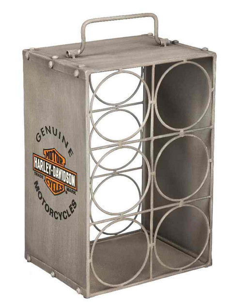 Harley-Davidson® Distressed Bar & Shield Metal Wine Rack Bottle Holder 8WCM4900