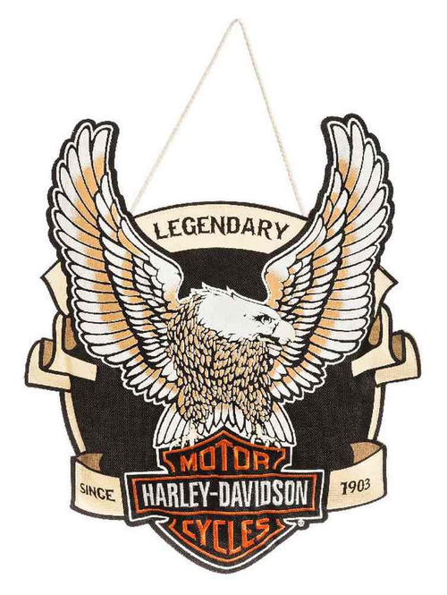 Harley-Davidson® Embroidered Up-Winged Eagle Hanging Door Decor 2DHB4907 - C