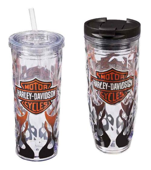 Harley-Davidson® Flaming B&S Hot & Cold Tumbler Gift Set, 2-Pack, P4214900FLA - Wisconsin Harley-Davidson