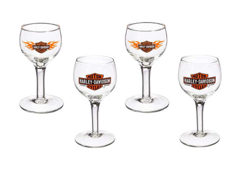 Harley-Davidson® Bar & Shield Logo Cordial Shot Glass Gift Set, 4-Pack 3CGS4900 - A