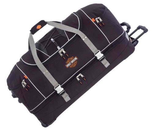 Harley-Davidson® 35 Inch Over Under Sections Wheeled Duffel Bag, Black 99635