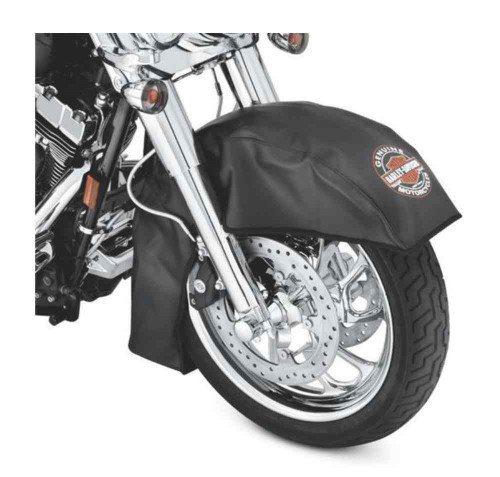 Harley-Davidson® Bar & Shield Large Fender Service Cover, Black Vinyl 94641-08 - A