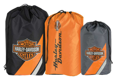 Harley-Davidson® Bar & Shield Stuff Sacks, Durable Nylon, 3-Pack HDL-10019