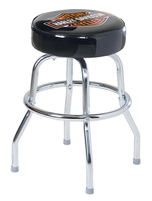 Harley-Davidson® Bar & Shield 24 inch Premium Quality Bar Stool, Black HDL-12132