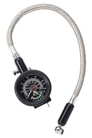 Harley-Davidson® Compact Tire Gauge & Tread Indicator w/ Braided Lead 75137-98B - Wisconsin Harley-Davidson