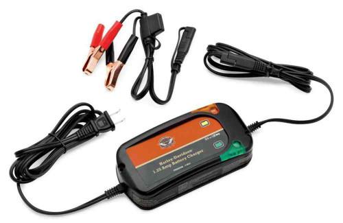 Harley-Davidson® 1.25 Amp Weather-Resistant Battery Charger, Universal 66000033 - Wisconsin Harley-Davidson