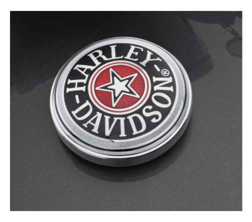 Harley-Davidson® Cloisonne Fuel Cap Medallion, Adhesive Backing 99537-96