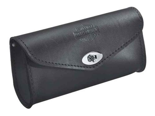Harley-Davidson® Embossed Bar & Shield Leather Windshield Bag, Black 58308-95