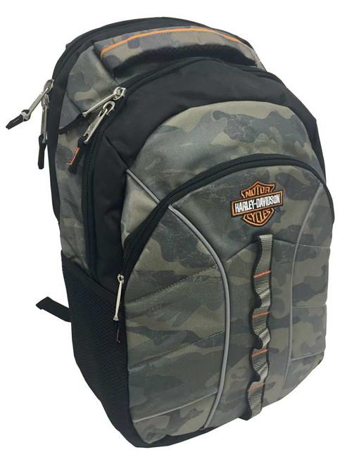 Harley-Davidson® Bar & Shield Laptop Backpack, 19.5 x 13.5 in, Camo 99913 CAMO