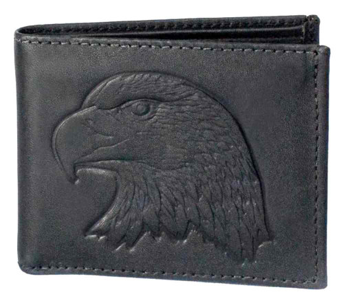 Genuine Leather Men's Embossed Eagle Distressed Leather Billfold Wallet DB313-40