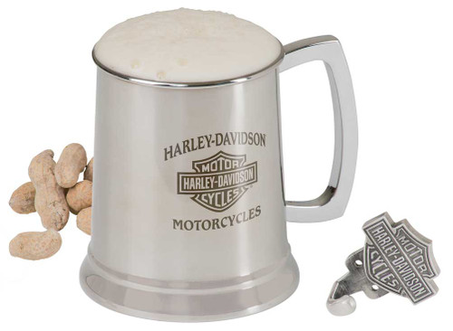 Harley-Davidson® Bar & Shield Motorcycle Stainless Steel Mug and Hook Set, 18 oz. HDL-18607 - Wisconsin Harley-Davidson