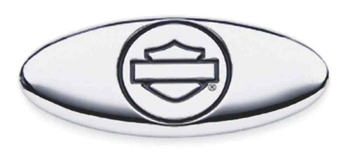 Harley-Davidson® Chrome Finish Oval Bar & Shield Decorative Medallion 91716-02