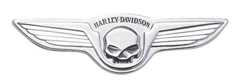 Harley-Davidson® Chrome Winged Skull Decorative Medallion, 5 x 1.5 inch 91723-02