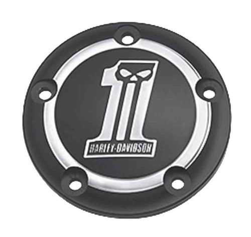 Harley-Davidson® Dark Custom #1 Skull Timer Cover, Fits Twin-Cam Models 32414-09