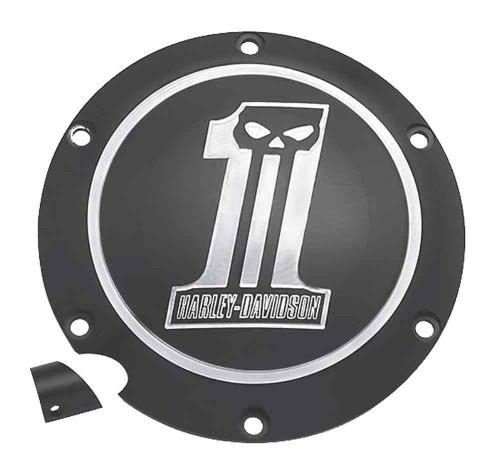 Harley-Davidson® Dark Custom #1 Skull Derby Cover, Fits XL Models 25563-09