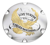 Harley-Davidson® Live to Ride Gold Derby Cover, Fits XL & XR Models 25127-04A - Wisconsin Harley-Davidson