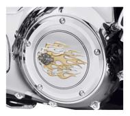 Harley-Davidson® B&S Gold Flames Derby Cover, Fit Touring & Trike Models 25700474  - Wisconsin Harley-Davidson
