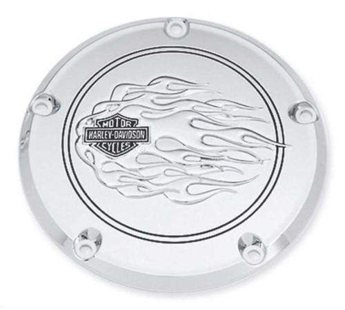 Harley-Davidson® B&S Flames Derby Cover, Fit Dyna, Softail & Etc. Models 25336-06 - Wisconsin Harley-Davidson