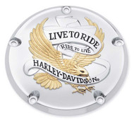 Harley-Davidson® Live to Ride Gold Derby Cover,Fits Dyna,Softail & Etc. 25340-99A