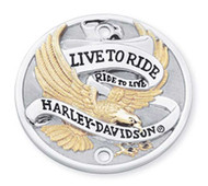 Harley-Davidson® Live to Ride Gold Timer Cover, Fits w/ Vertical Holes 32585-90T