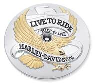 Harley-Davidson® Live to Ride Gold Air Cleaner Trim, Fits Dyna & Etc. 29328-99