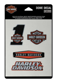 Harley-Davidson® Reflective Assortment Dome Decals, 4 Decals, 4.5 x 7 in DC16630