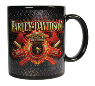 Harley-Davidson® Firefighter Original Ceramic Coffee Mug, 11 oz. Black CM126581 - Wisconsin Harley-Davidson