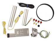 Heat Demon Motorcycle Grip Heater Kit Four-Level Controller, Chrome Left 211055