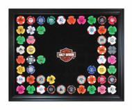 Harley-Davidson® Bar & Shield Chip Collector's Frame, Holds 76 Poker Chips 6976 - Wisconsin Harley-Davidson