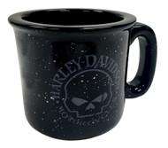 Harley-Davidson® Campfire Willie G Skull Coffee Mug, 12 oz. Black HD-WGS-2206