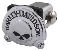 Harley-Davidson® Willie G Skull Trailer Hitch Cover, Chrome Finish, 2 Inch HDHC06