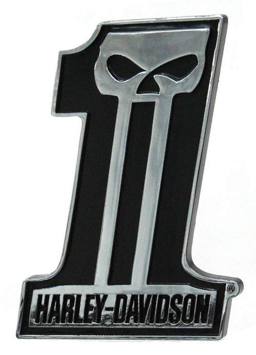 Harley-Davidson® #1 Skull Dark Custom Chrome Injection Molded Emblem CG41507